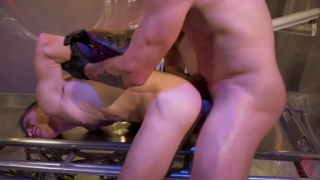 leather doctor Trenton Ducati fucks new boy Tom Bentley