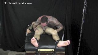 Christian Greco straped in and tickled
