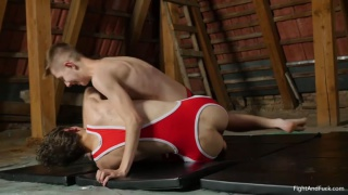 Chad Johnstone bare fucks wrestling buddy Dominik Black