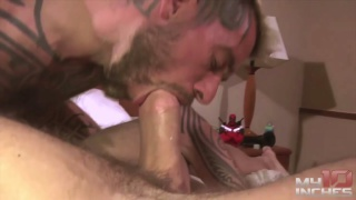 cocksucker nearly deep throats a 10-inch dick