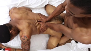 black bottom gets fucked raw doggy style