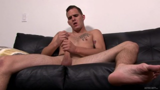 Bo Connor strokes his big cock