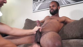bearded black guy gets his BBC serviced