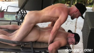 hard long pounding with two furry guys
