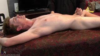 cute straight guy Aiden gets stroked off