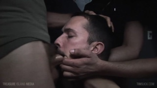eager cocksucker blows four men