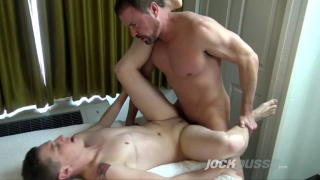 trans guy Logan Philips gets fucked by Jason Sparks