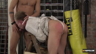 Straight Jacket & Spanking with Chris Jansen & David Paw