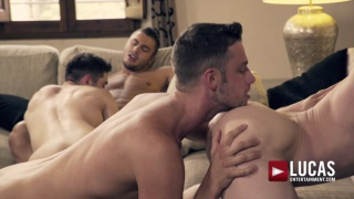 RAW DOUBLE FUCKING with BEN BATEMEN, BROCK MAGNUS, RUSLAN ANGELO & DAMON HEART