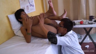 asian boy gets thoroughly kinky anal examination