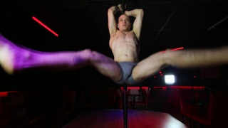 exotic dancer Gael shows off on stripper pole