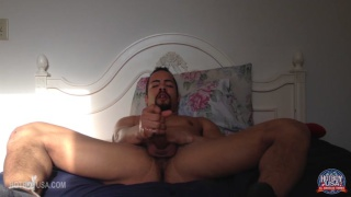 Taylor Fitch has a sexy goatee and he jerks off