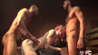 Back Alley 3-Way with Rikk York, Seth Santoro & Declan Moore