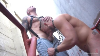 Muscle Stud is Shackled & Flogged in the Streets