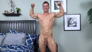 muscle hunk Conrad in his first porno