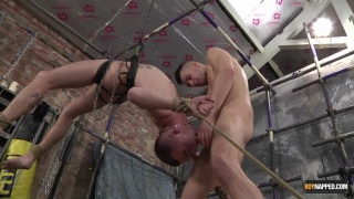 Dmitry Osten ties up Michael Wyatt and uses him