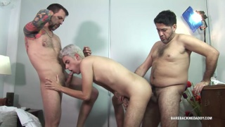 latin boy gets fucked by two older men