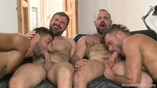 real couples fourway with Manuel Skye, Mick Stallone, Felipe Ferro & Jose Quevedo