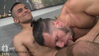 straight guy Gaberial gets sucked by latin stud Marco