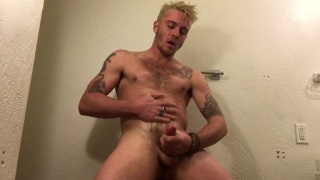 brazilian hunk jerks his cock in the shower