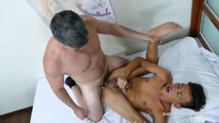 Asian boy loves all the anal penetration from his doctor