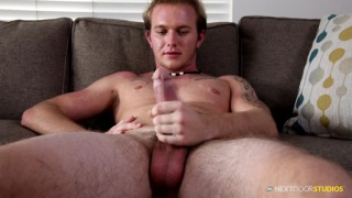 blond stud Rex Tanner makes his first porno