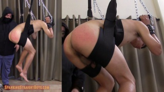 college student suspended in sling for a spanking