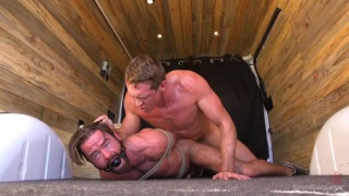 Pierce Paris ties up Brendan Patrick and pounds him hard
