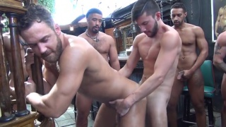 Logan Moore Gets Banged by eight men