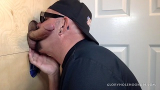 Daddy stops by Gloryhole For Head