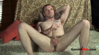 hung guy Drake jacks off in Audition video