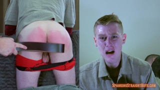 unemployed blond guy gets his ass spanked