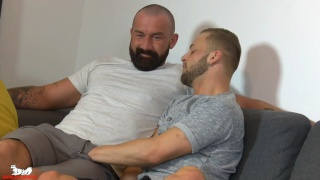 bearded daddy Tommy Sparks fucks Koby Lewis